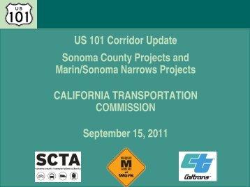 U.S. Corridor 101 Update - Sonoma County Transportation Authority