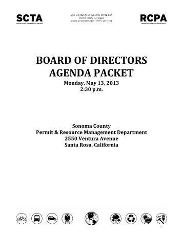 05/13/2013 - Sonoma County Transportation Authority
