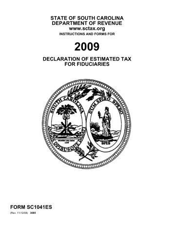 Sc Sch Tc 4 The South Carolina Department Of Revenue