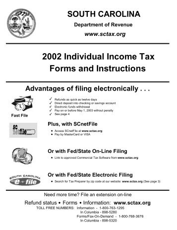 2002 Individual Income Tax Forms And Instructions   The South .