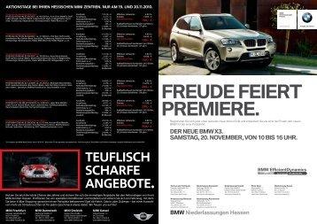 Teuflisch scharfe angebote. - BMW AG, Niederlassung Frankfurt