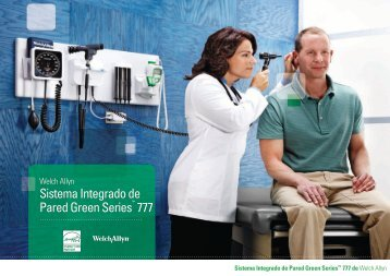 Sistema Integrado de Pared Green Series™ 777 - Welch Allyn