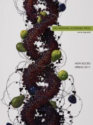 NEW BOOKS SPRING 2011 - The National Academies Press