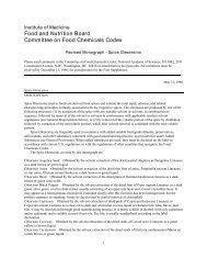 Food and Nutrition Board Committee on Food Chemicals Codex