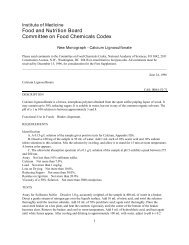 Calcium Lignosulfonate - The National Academies Press