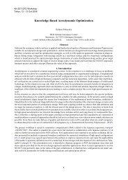Knowledge Based Aerodynamic Optimization - DLR