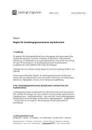 Regler för landstingsgemensamma styrdokument - Landstinget i ...