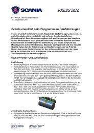 Scania erweitert sein Baufahrzeug-Programm