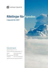 Riktlinjer för Apodos - Landstinget i Uppsala län