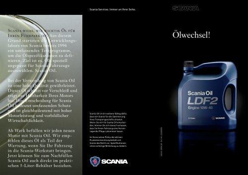 Scania Oil: Ölwechsel!