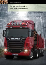 Scania Holztransport