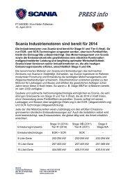 Scania Industriemotoren sind bereit für 2014