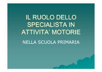 Il ruolo dello specialista in attività motorie nella scuola primaria