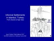 Informal Settlements in Istanbul, Turkey: - SCUPAD