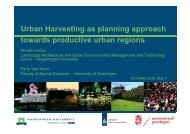 Urban Harvesting as planning approach towards ... - SCUPAD