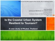Is the Coastal Urban System Resilient to Tsunami? - SCUPAD