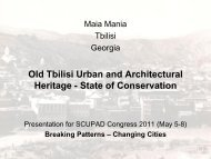 Old Tbilisi Urban and Architectural Heritage - State of ... - SCUPAD