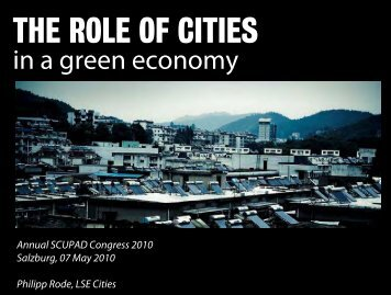 The Role of Cities in a Green Economy - Salzburg SCUPAD ...