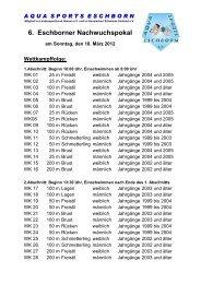 6. Eschborner Nachwuchspokal - Schwimm-Club Wiesbaden 1911 eV