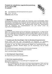 Protokoll der ordentlichen Jugendvollversammlung am 19. Januar ...