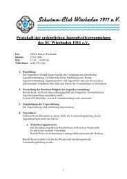 Protokoll der ordentlichen Jugendversammlung des SCW am 25.02 ...