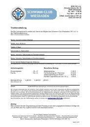 Aufnahmeantrag Triathlonabteilung - Schwimm-Club Wiesbaden ...