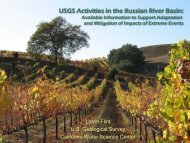 USGS Activities in the Russian River Basin: - Sonoma County Water ...