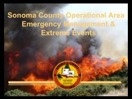 Sonoma County Operational Area Emergency Management ...