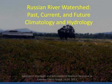 Russian River Watershed - Sonoma County Water Agency