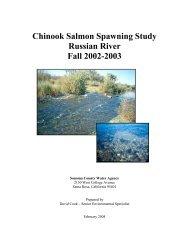 Chinook Salmon Spawning Study Russian River Fall 2002-2003