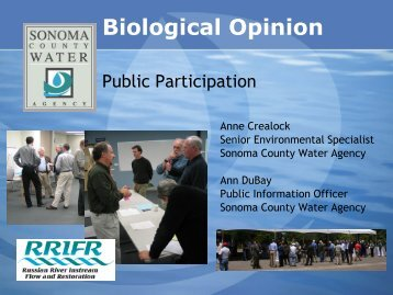 RRIFR Public Participation Plan - Sonoma County Water Agency