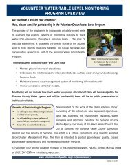 Sonoma Valley Groundwater - Sonoma County Water Agency
