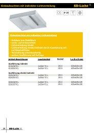 Einbauleuchten mit indirekter Lichtverteilung - bei SD-Licht