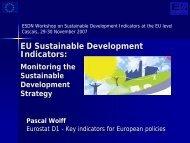 EU SDIs: monitoring the SDS - European Sustainable Development ...