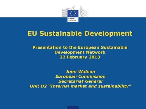 """EU Sustainable Development"" (PDF, 253 kB) - European ..."