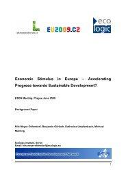Background Paper (PDF, 256 kB) - European Sustainable ...