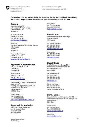 Aargau Appenzell Ausserrhoden Appenzell Innerrhoden Basel ...