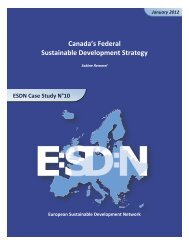 Canada's Federal Sustainable Development Strategy - European ...