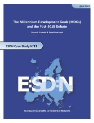 (MDGs) and the Post-2015 Debate - European Sustainable ...