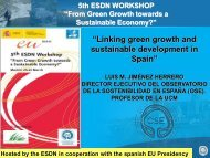 """""""Linking green growth and sustainable development in Spain"""""""