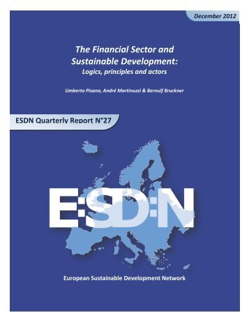 The Financial Sector and Sustainable Development: - European ...