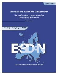 Resilience and Sustainable Development: - European Sustainable ...