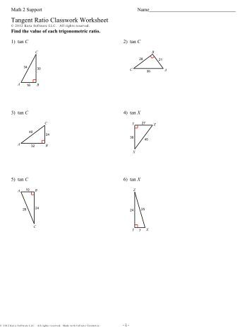 how to work out tangent ratio