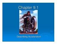 9.1 - Acceleration