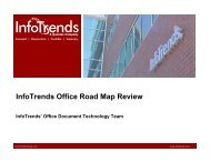 InfoTrends Office Road Map Review