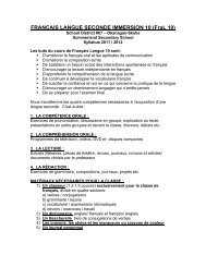 Syllabus FraL 10 STUDENT VERSION 2011 ... - School District 67