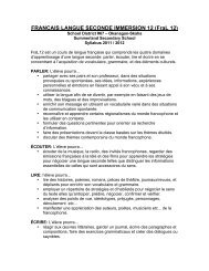 Syllabus FraL 12 STUDENT VERSION 2011 ... - School District 67