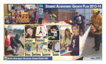 Achievement Contract - School District 83 North Okanagan - Shuswap