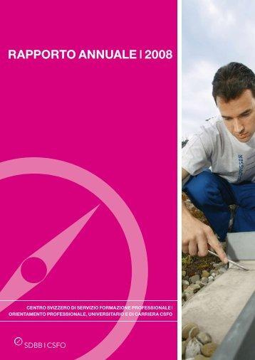 Rapporto annuale 2008 [PDF] - SDBB