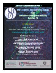 Initial Announcement ! - Society for Developmental Biology